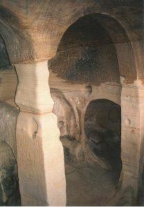 interior eremitorio de Presillas o cueva San Miguel
