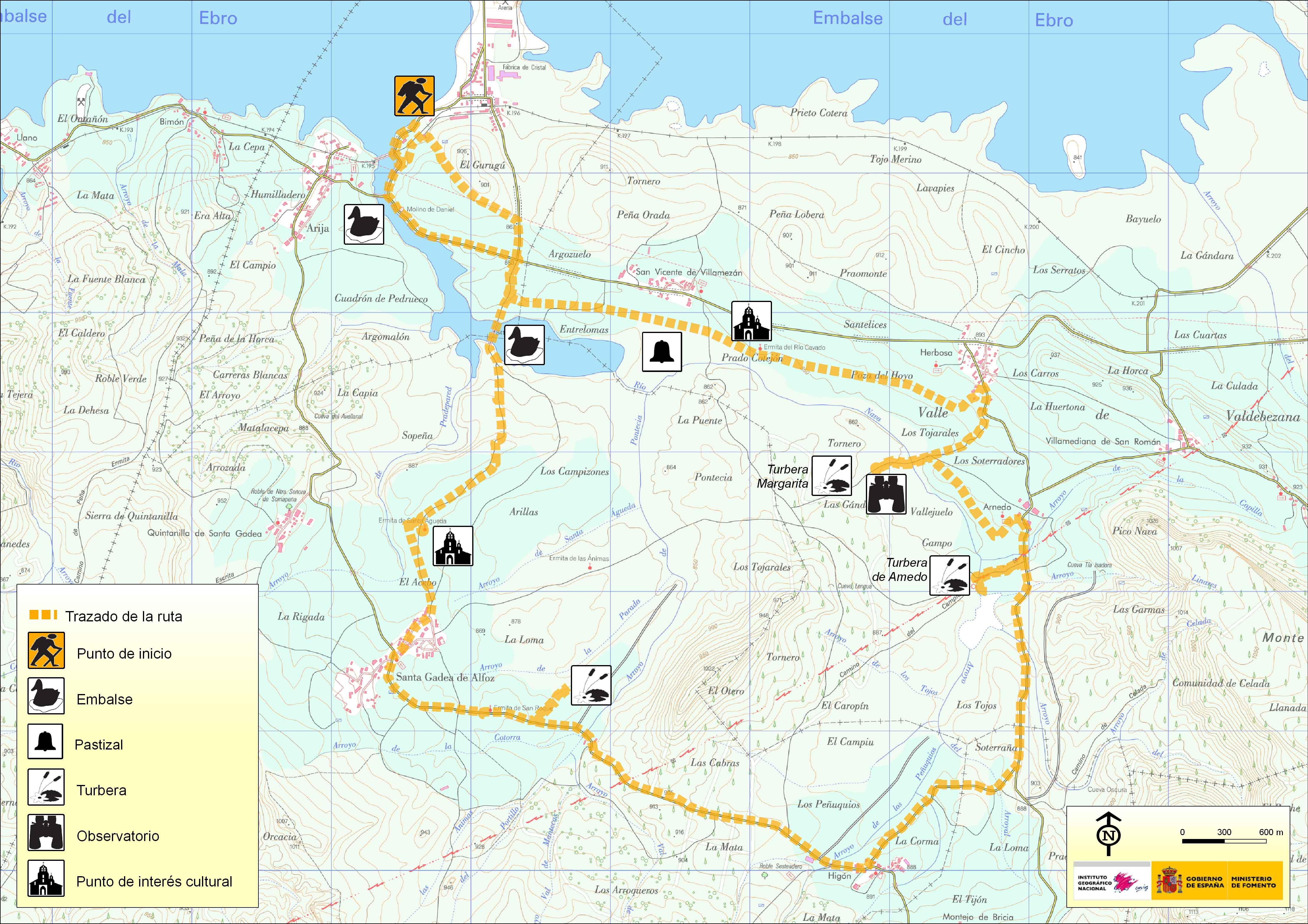 birdwatching route Embalse del Ebro