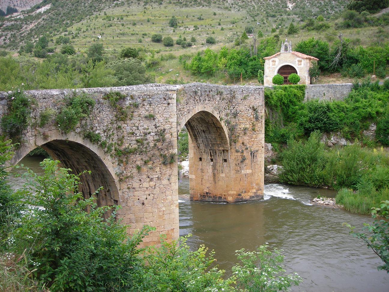 Puente romano Pesquera de Ebro - Ruta Orbaneja del Castillo