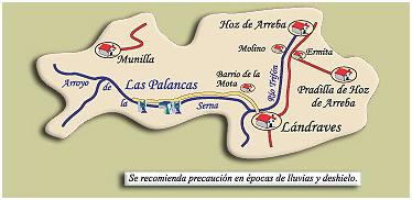 ruta por el desfiladero de Las Palancas