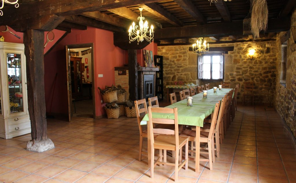 Ground floor of La Toba rural house, a large dining room