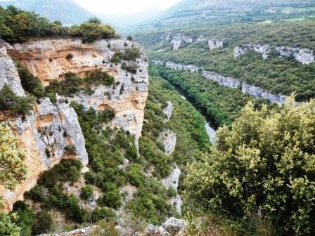 ruta senderismo cañones del Ebro