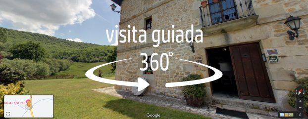Visita virtual 360 de la casa rural La Toba